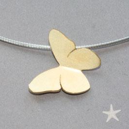 Schmetterling Anhänger in Silbervergoldet
