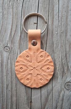 Porte-clés en cuir naturel