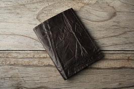 Porte-cartes en cuir froissé ébène