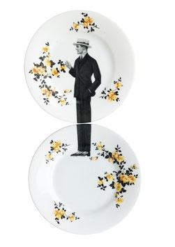 """Set """"Gentleman Gene"""" yellow flowers"""