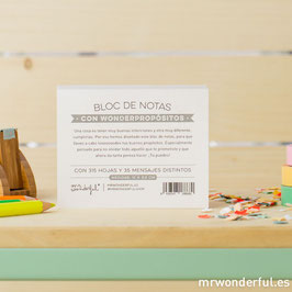 Bloc de notas wonderpropósitos