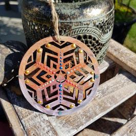 Kristall Mandala auf Holz Nr. 08
