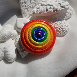 Keramik Circle Regenbogen Kreise mit Gold und Silber