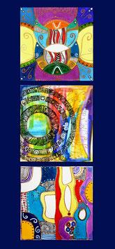 Kunstkarte 3er Collage