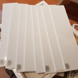 8 Boesner Malpatten neuwertig, grundiert 30 x 10