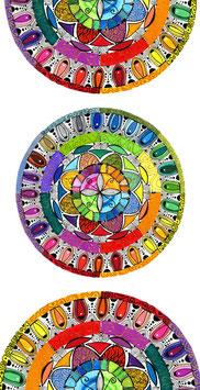 Kunstkarte Regenbogen Mandala