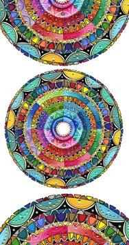 Kunstkarte harmonisches Farbenspiel Mandala