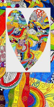 Kunstkarte Grosses Herz