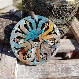 Kristall Mandala auf Holz Nr. 07