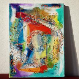 Original Kunst Acryl Leinwand auf Keilrahmen. B