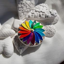 Keramik Circle Regenbogen