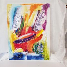 Original Kunst Acryl Leinwand auf Keilrahmen. A