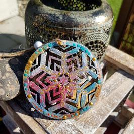 Kristall Mandala auf Holz Nr. 14