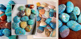 Moni's bemalte Happy-Stones