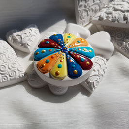 Keramik Circle 5 farbig mit Muster