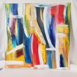 Original Kunst Acryl Leinwand auf Holzrahmen. K