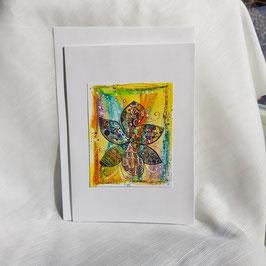 A5-Karte Kunstbild farbige und fröhliche Blume (4 Stück sofort verfügbar)