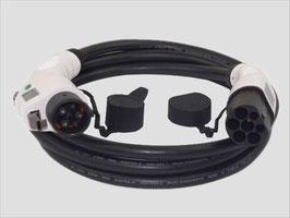 Ladekabel Typ 2 auf Typ 1 nach IEC 62196-2