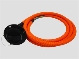 Einbau-Fahrzeugstecker Dostar Typ 2 nach IEC 62196-2 mit 3m Kabel