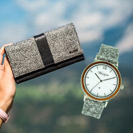 Damengeldbörse + Jahreszeiten Uhr