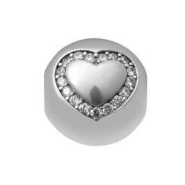 Herz Perle silber