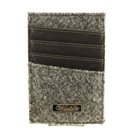 Geldklammer aus Loden + Leder