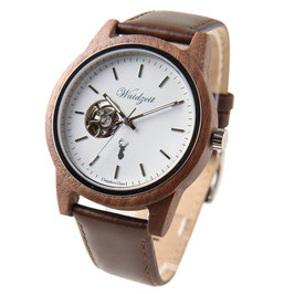 GAMSKAR Automatik Uhr mit Lederarmband oder Lodenarmband