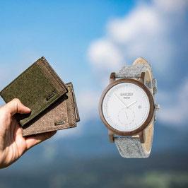 Herrengeldbörse + Maximilian Uhr