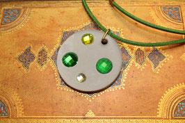 Kristall Kette Zweierlei Grün