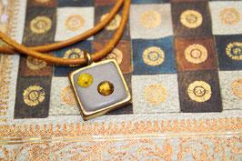 Kristallkette Bronze-Goldgelb