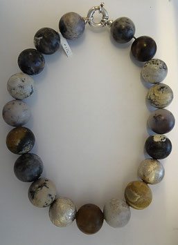 Dendrit-Achat- Kugelkette