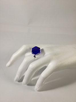 BI104 - Bague cristal et argent