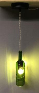 LU104 -Suspension bouteille verte taillée 75cl