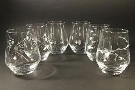 VE106- Service de 6 verres à Whisky. Motifs au choix