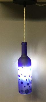LU100 -Suspension bouteille bleue sablée 75cl
