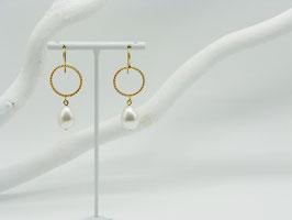Ohrhänger Ring+Perle