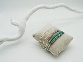 Kugelarmband Kristall-Steg, versch. Farben