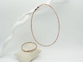 Glitzerndes Set Halskette + Armband