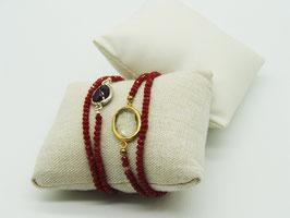 Swarovski Loop-Armband rot