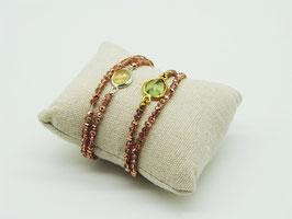 Swarovski Loop-Armband Rosé-Kupfer
