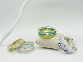 Spiralarmbänder, versch. Farben