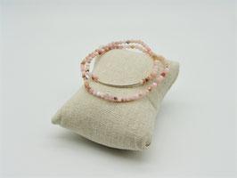 Loop-Armbänder mit Silbersteg, versch. Farben