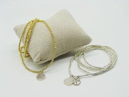 Hämatit Loop-Armband, gold/silber