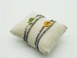 Swarovski Loop-Armband Pyritsilber