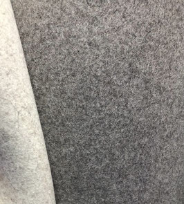 5-mm-Wollfilz DoubleFace grau meliert/hellgrau meliert