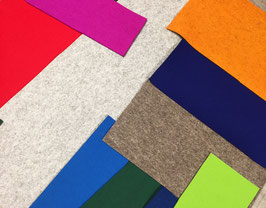 Bunter Quadratmeter Wollfilz, versch. Farben und Maße