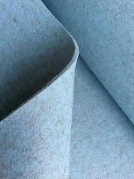 5-mm-Wollfilz hellblau-meliert, eisblau
