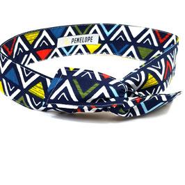 Headband tribal bleu