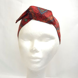 Headband tribal rouge