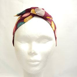 Headband floral bordeaux